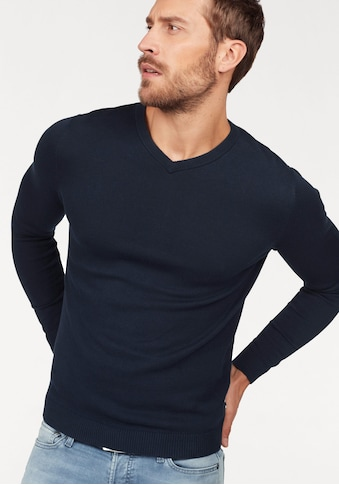 Jack & Jones V-Ausschnitt-Pullover »JJEBASIC KNIT V-NECK« kaufen