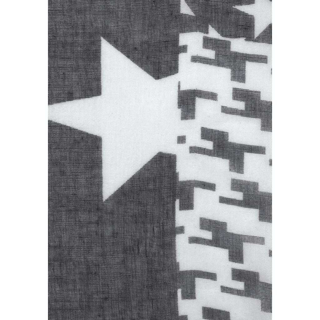 J.Jayz Loop, Rundschal mit Sternen, Tarnmuster, Hahntritt Print