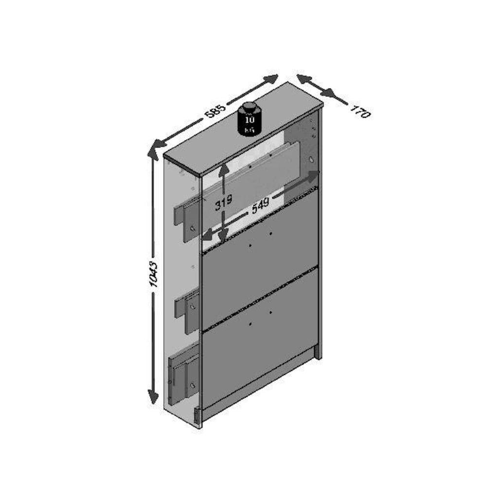 FMD Schuhschrank »Step 3«, Breite 58,5 cm, mit 3 Klappen
