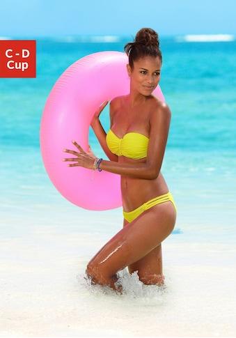 Buffalo Bügel-Bandeau-Bikini-Top »Happy«, mit geflochtenem Detail kaufen