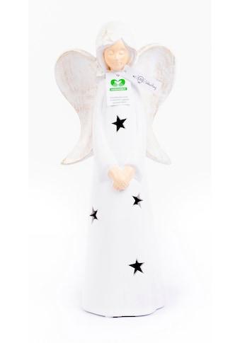 VALENTINO Wohnideen LED Dekofigur »Engel Marley«, Warmweiß, aus Keramik kaufen