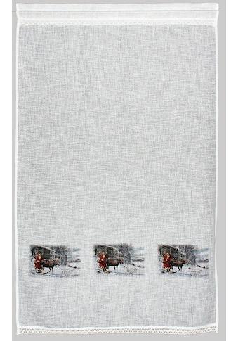 HOSSNER - ART OF HOME DECO Gardine »Weihnachtsmann«, Landhaus-Look kaufen