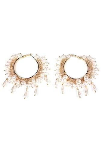 J.Jayz Paar Creolen »Details in Tropfenform, vergoldet«, mit Acrylperlen kaufen