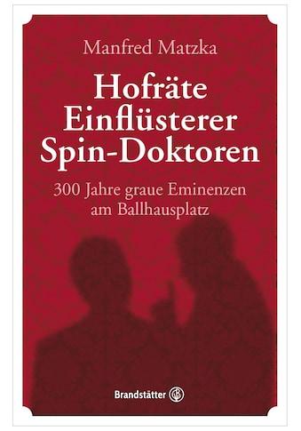 Buch »Hofräte, Einflüsterer, Spin-Doktoren / Manfred Matzka« kaufen