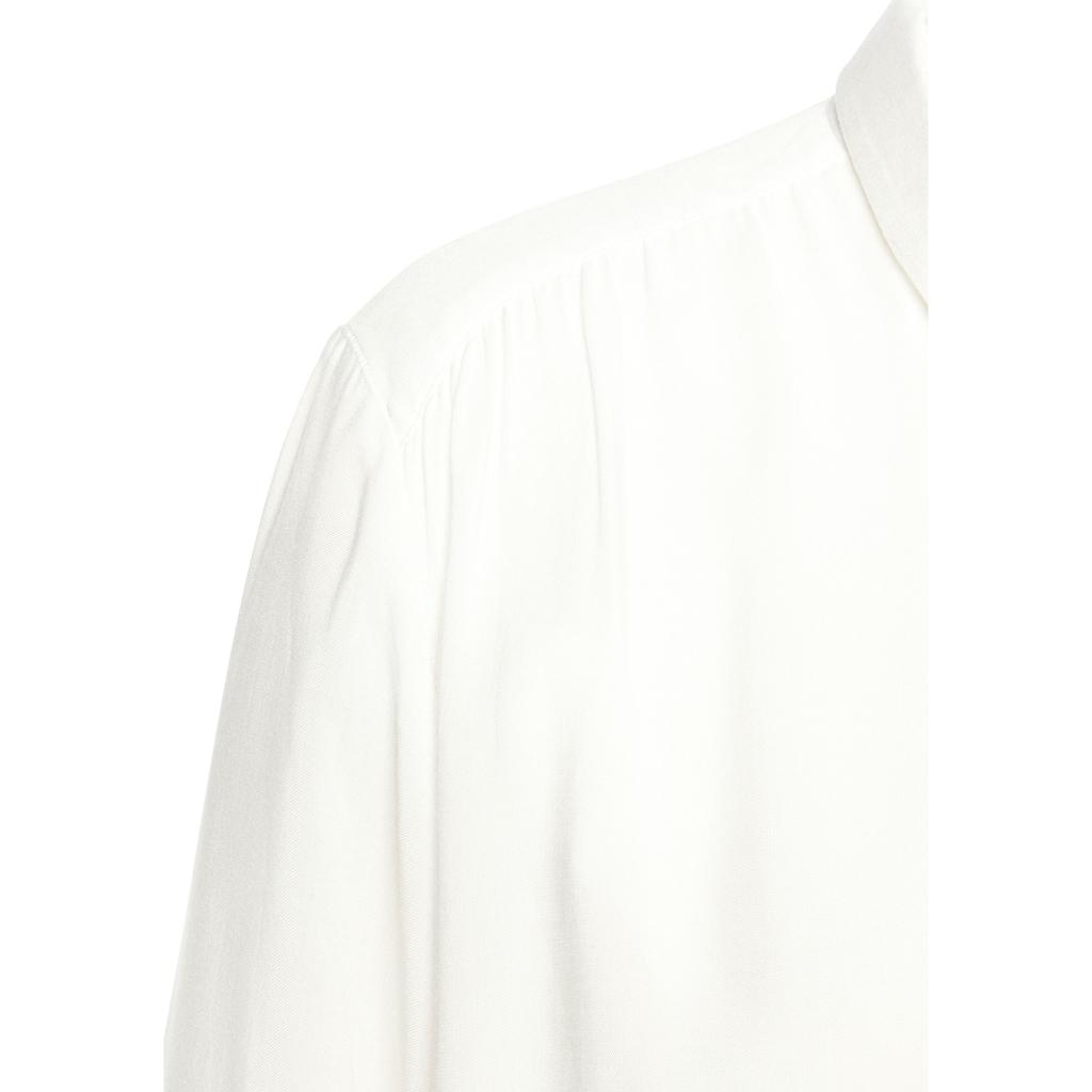 LASCANA Hemdbluse, mit bezogenen Knöpfen