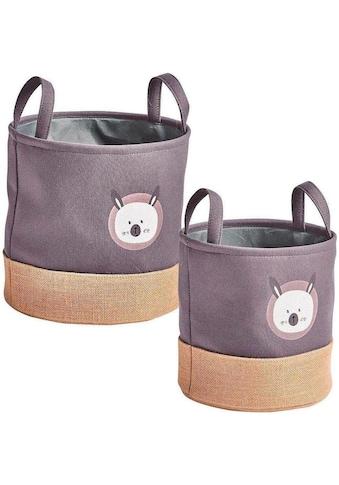 Zeller Present Aufbewahrungskorb »Hase«, (Set, 2 St.) kaufen