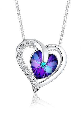 Elli Collierkettchen »Herz Luxus Kristalle 925 Silber« kaufen