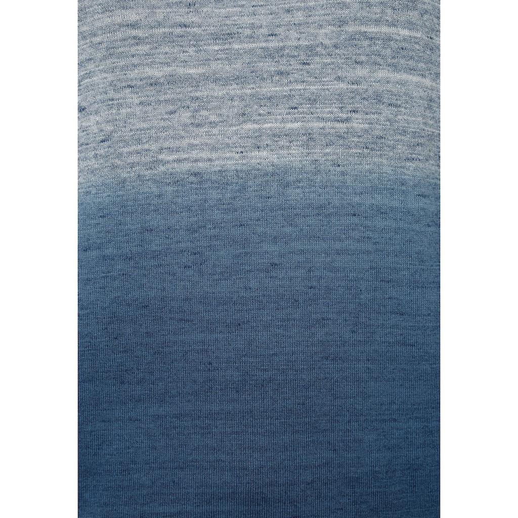 Rhode Island Rundhalspullover, mit Farbverlauf