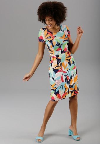 Aniston SELECTED Sommerkleid, im farbenfrohen Druck - NEUE KOLLEKTION kaufen