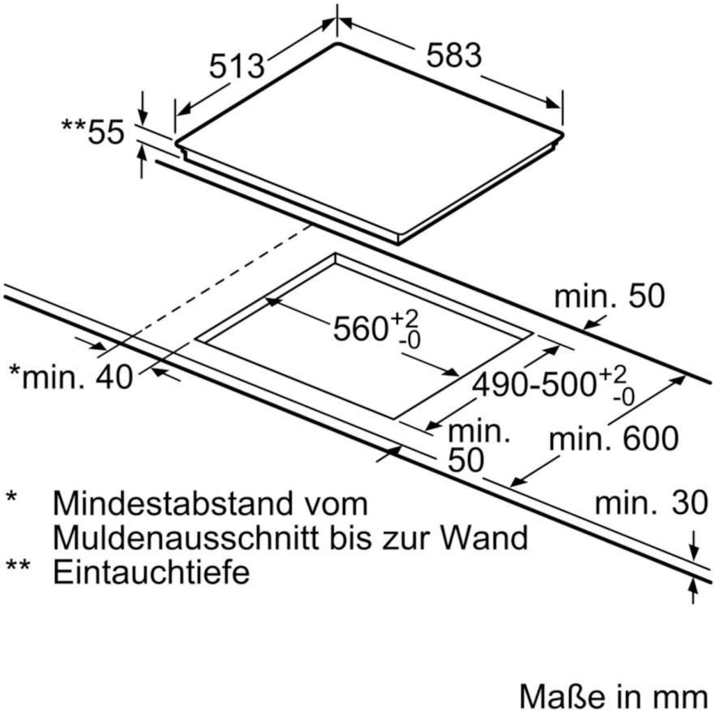 SIEMENS Flex-Induktions-Herd-Set »PQ561DA00«