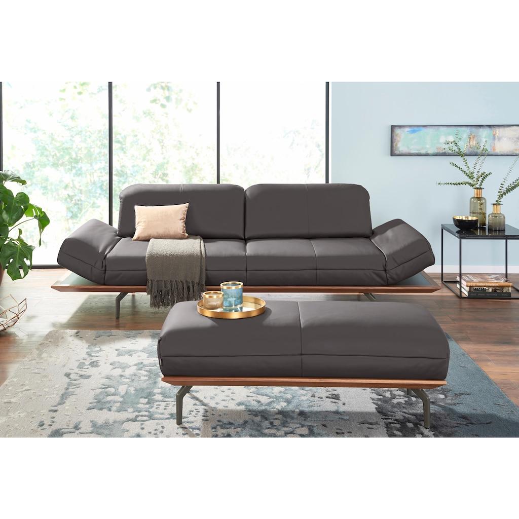hülsta sofa 3-Sitzer »hs.420«, in 2 Qualitäten, Holzrahmen in Eiche Natur oder Nußbaum
