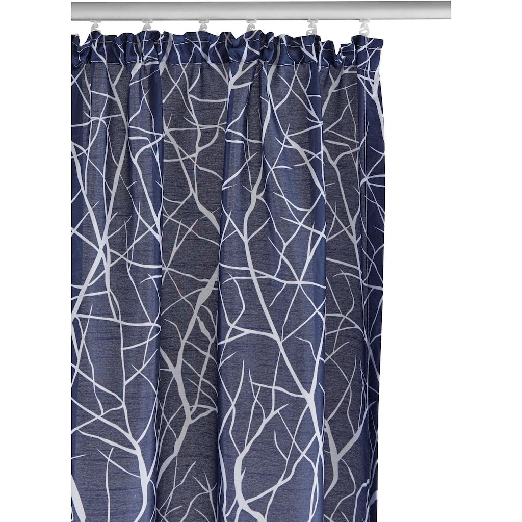 my home Vorhang »Camposa«, Gardine, Fertiggardine, halbtransparent