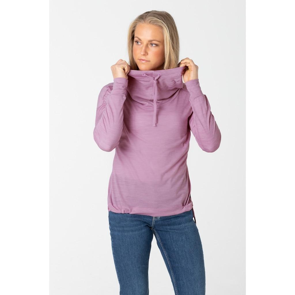 SUPER.NATURAL Kapuzensweatshirt »W FUNNEL HOODIE«, optimaler Merino-Materialmix