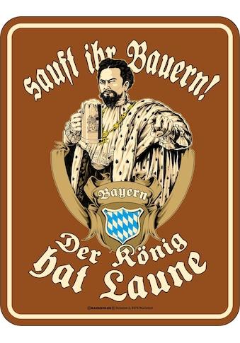 Rahmenlos Blechschild für den königstreuen Bayern-Fan kaufen