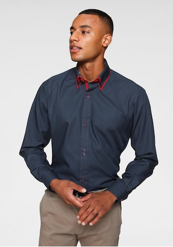 Bruno Banani Businesshemd, aufwendig gearbeitete Knopfleiste, bügelfrei kaufen
