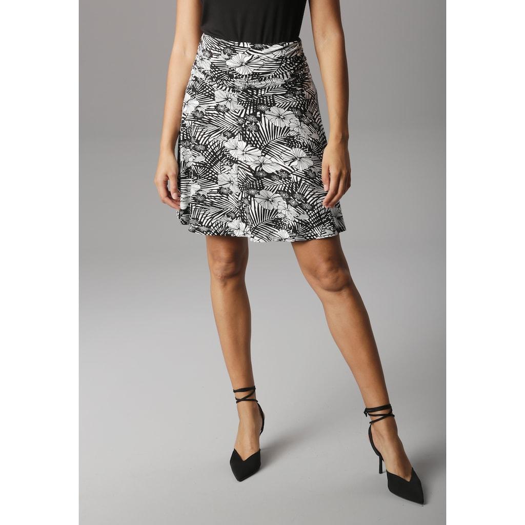 Aniston SELECTED Sommerrock, mit seitlicher Raffung und breitem Bund - NEUE KOLLEKTON