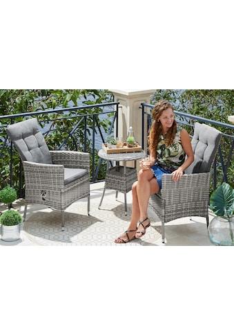 KONIFERA Gartenmöbelset »Belluno«, 5 - tlg., 2 Sessel, Tisch Ø 100 cm, Polyrattan kaufen