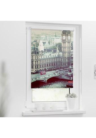 LICHTBLICK Seitenzugrollo »Rollo Klemmfix, ohne Bohren, Verdunkelung, London... kaufen