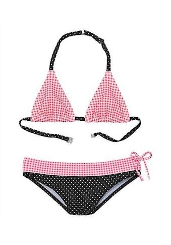 Buffalo Triangel-Bikini, mit Mustermix aus Karo und Punkten kaufen