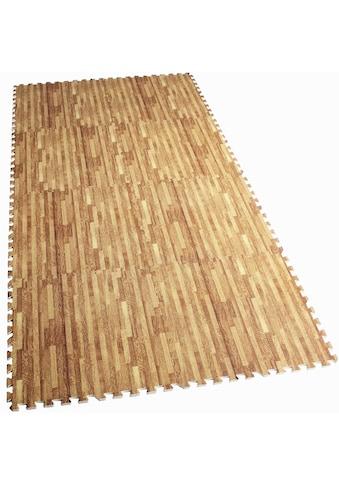 GORILLA SPORTS Bodenschutzmatte »Schutzmattenset mit acht Teilen Holzoptik«, Flexibel... kaufen