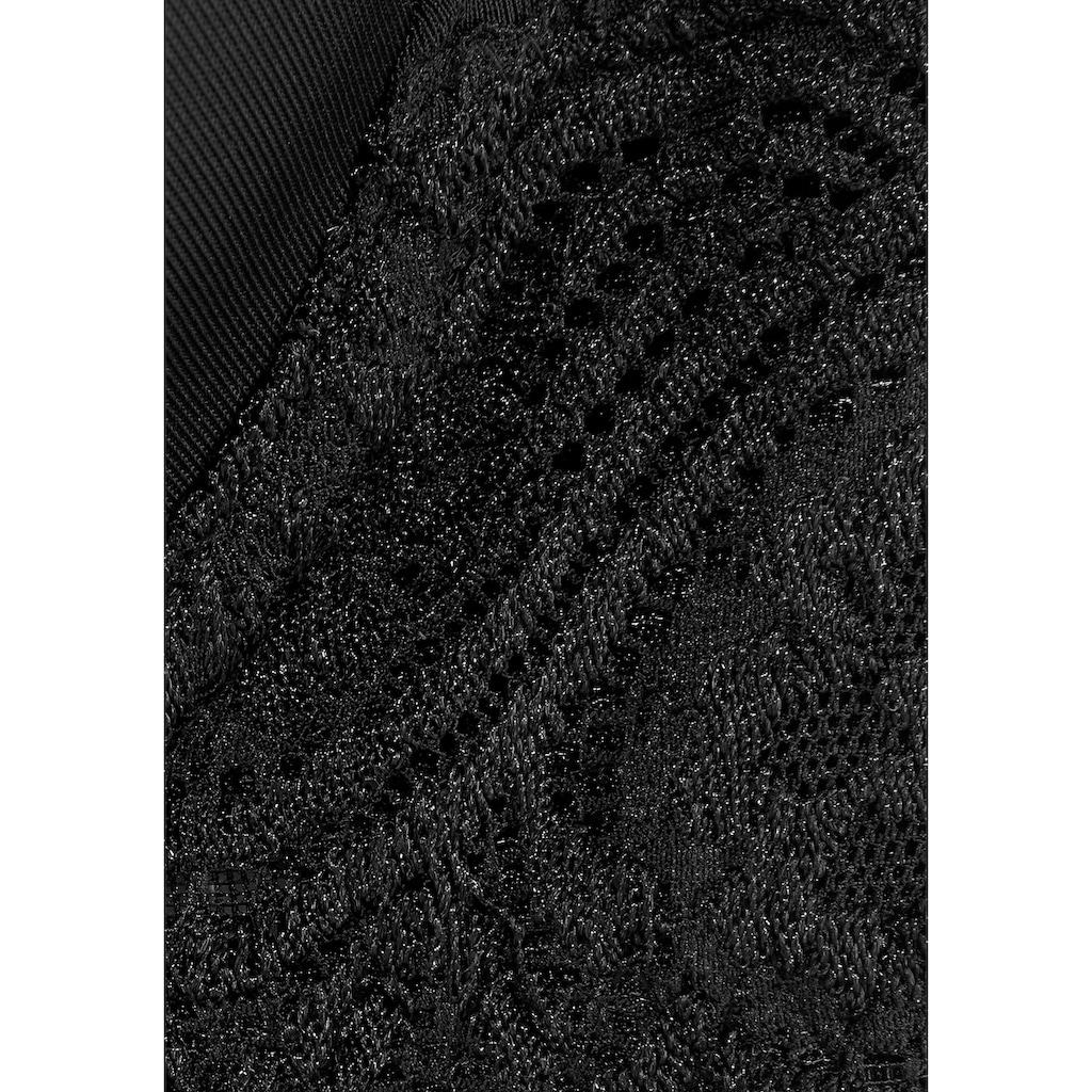 LASCANA Schalen-BH, mit Bügel, mit nahtlos vorgeformten Cups und Spitzendetails