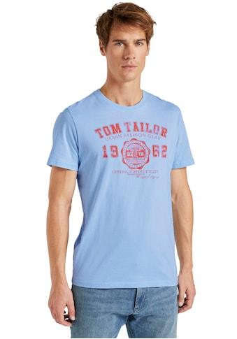 TOM TAILOR Rundhalsshirt, mit Logoprint kaufen