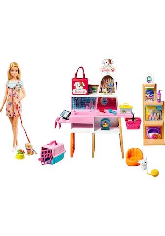 Mattel® Anziehpuppe »Barbie Haustiersalon Spielset und Puppe«, (Set, 20 tlg., inkl. 4 Haustiere) kaufen