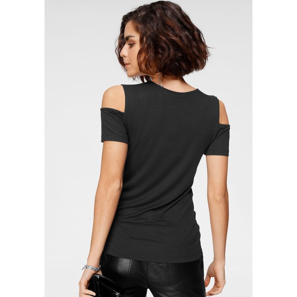 Tamaris V-Shirt, im Cold-Shoulder-Look - NEUE KOLLEKTION