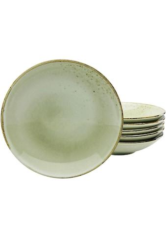 CreaTable Suppenteller »NATURE COLLECTION«, (Set, 6 St.), Ø 22 cm, Steinzeug kaufen