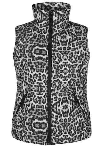 Doris Streich Steppweste »mit Allover-Print«, mit Stehkragen kaufen