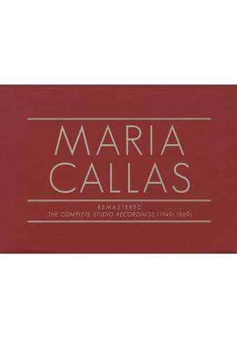 Musik-CD »Callas Sämtliche Studioaufnahmen Remastered / Callas,Maria« kaufen