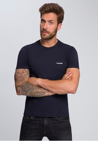 Calvin Klein T-Shirt »COTTON CHEST LOGO«, kleiner Calvin Klein- Schriftzug kaufen