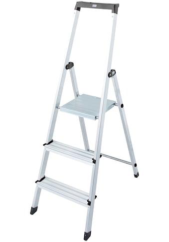 KRAUSE Stehleiter »Solidy«, Aluminium, 1x3 Stufen, Arbeitshöhe ca. 262 cm kaufen