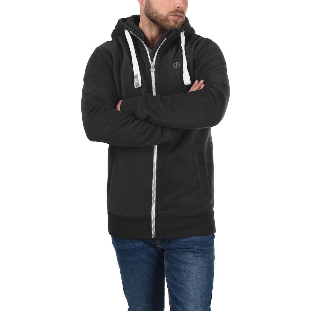 Solid Fleecejacke »Loki«, Sweatshirtjacke mit hochabschließendem Kragen