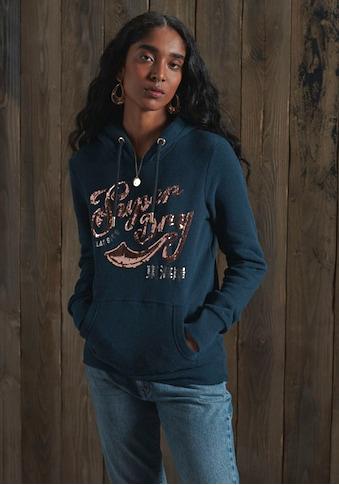Superdry Kapuzensweatshirt »SCRIPT SEQUIN HOOD«, aufwendige Pailetten Applikation und Rosegold Details kaufen