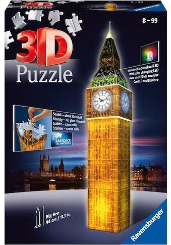 Ravensburger 3D-Puzzle »Big Ben bei Nacht«, Made in Europe, FSC® - schützt Wald - weltweit kaufen