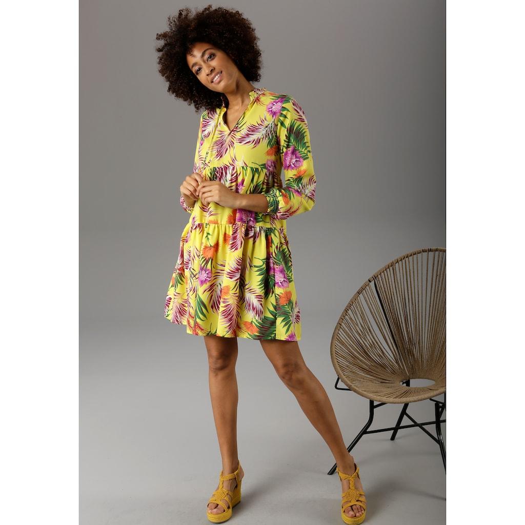 Aniston CASUAL Sommerkleid, mit Dschungel-Print - NEUE KOLLEKTION