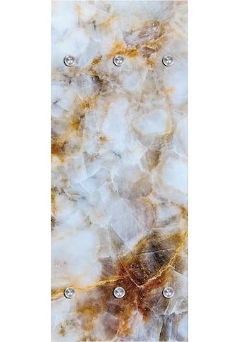 queence Garderobenpaneel »Muster marmoriert«, mit 6 Haken, 50 x 120 cm kaufen