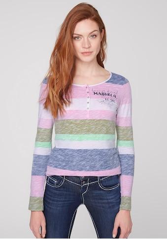 SOCCX Langarmshirt, mit Streifen-Print kaufen