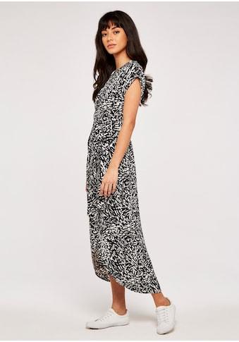 Apricot Druckkleid »Abstract Print Crepe Wrap Dress«, (mit Bindeband), mit Taillen-Bindegürtel kaufen