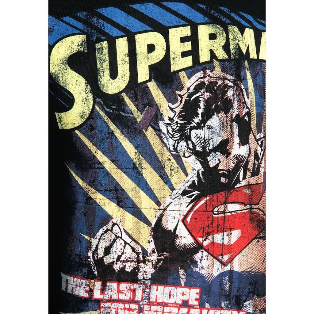 LOGOSHIRT T-Shirt »Superman – The Last Hope«, mit lizenziertem Originaldesign