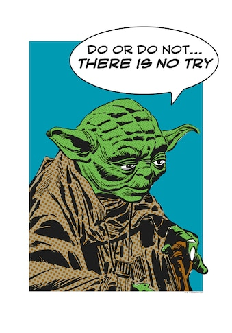 Komar Poster »Star Wars Classic Comic Quote Yoda«, Star Wars kaufen