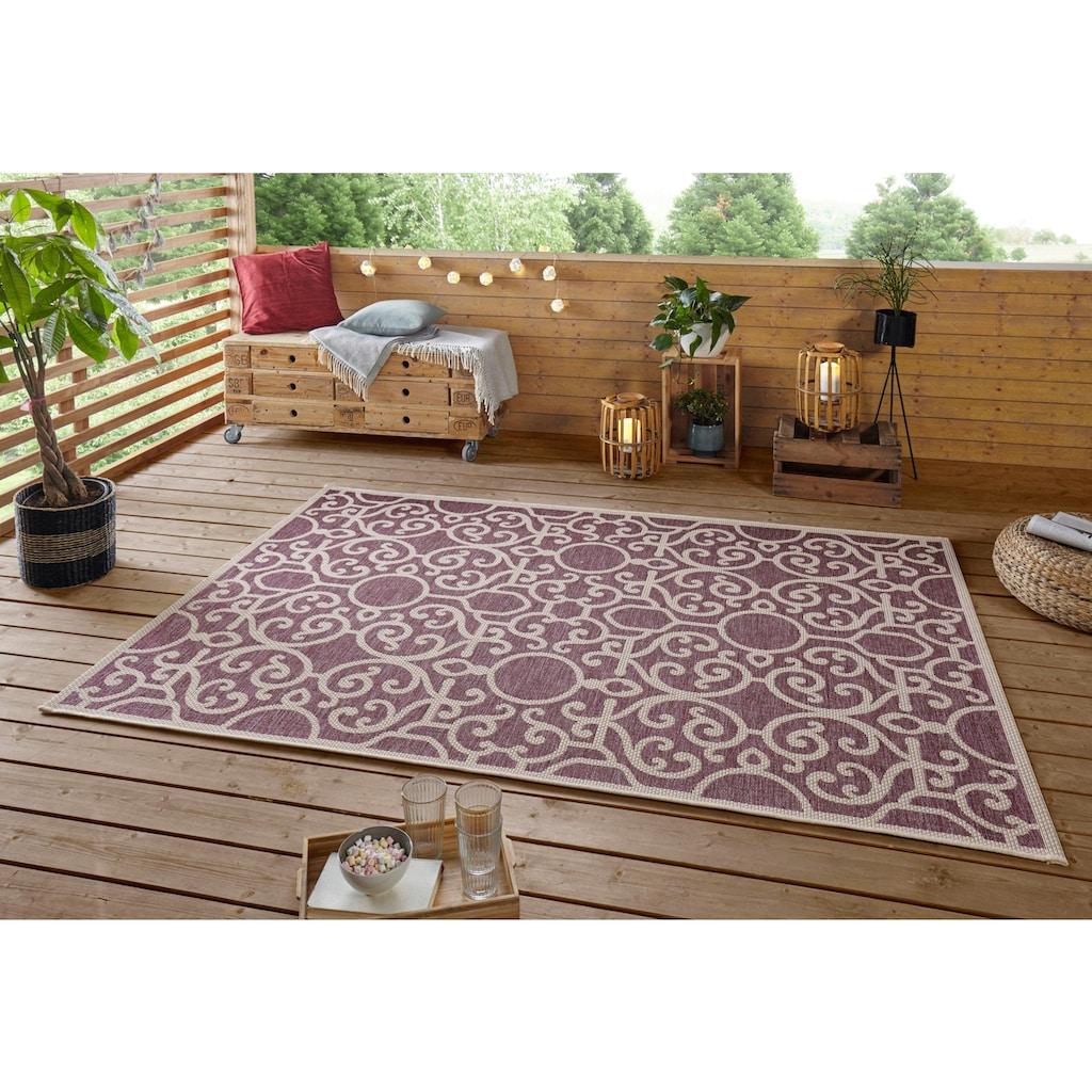 bougari Teppich »Nebo«, rechteckig, 4 mm Höhe, In- und Outdoor geeignet, Flachgewebe, Wohnzimmer
