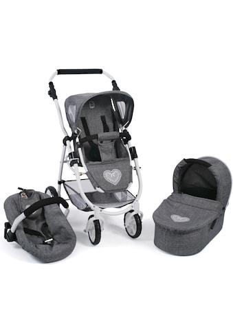 CHIC2000 Kombi-Puppenwagen »Emotion All In 3in1, Jeans Grey«, inkl. Babywanne, Babyschale und Sportwagenaufsatz kaufen