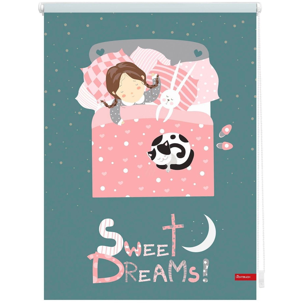 LICHTBLICK Seitenzugrollo »Klemmfix Digital Sweet Dreams«, verdunkelnd, energiesparend, ohne Bohren, freihängend, bedruckt