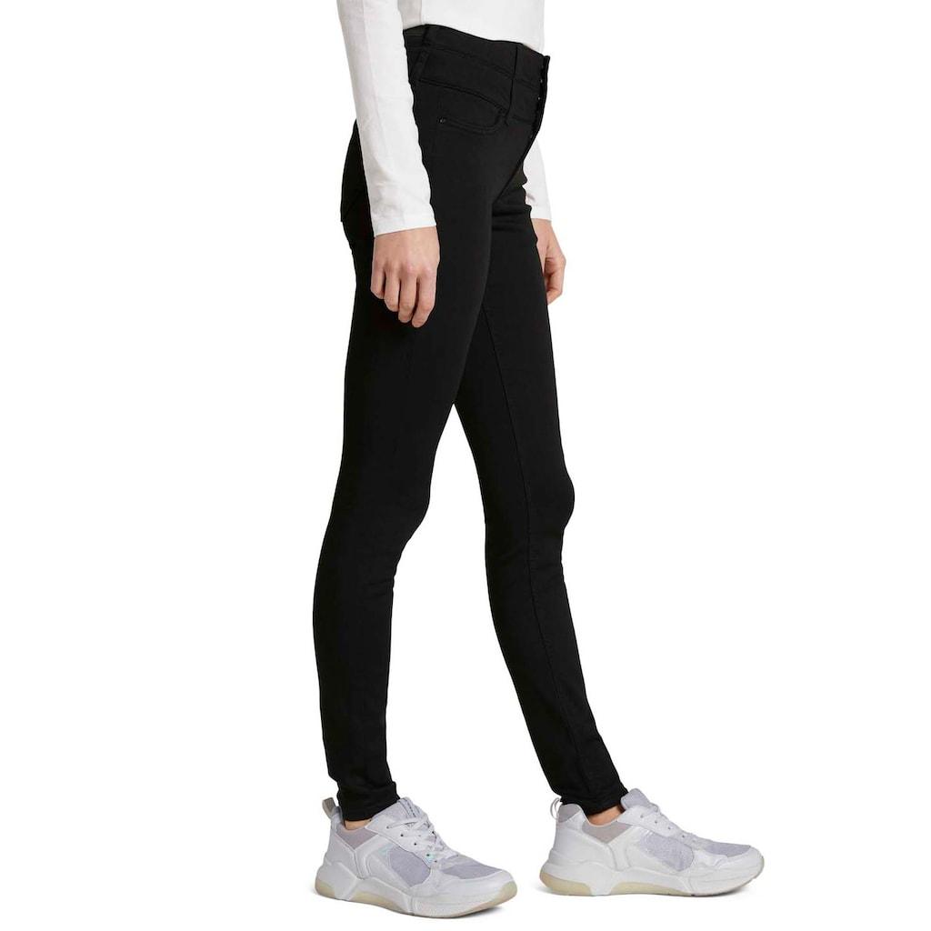 TOM TAILOR Denim Skinny-fit-Jeans, mit hohem geknöpftem Bund