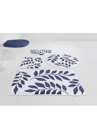 Badematte »Blue Leaves«, Guido Maria Kretschmer Home&Living, Höhe 10 mm, rutschhemmend beschichtet kaufen