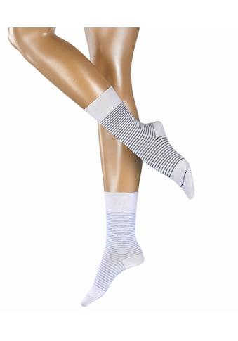 Esprit Socken »Fine Stripe 2-Pack«, (2 Paar), mit feinen Streifenmuster kaufen