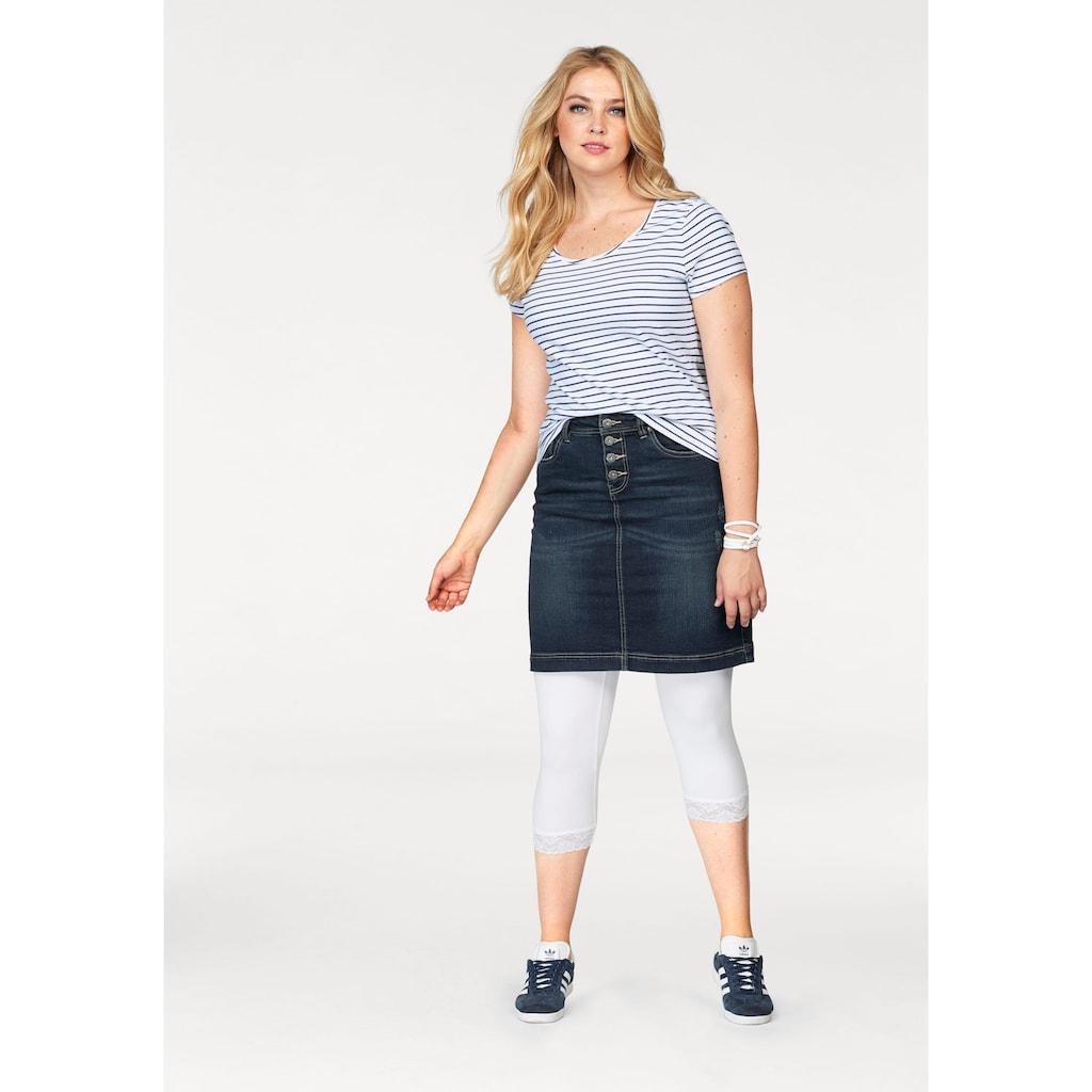 Arizona Jeansrock »mit sichtbarer Knopfleiste«, High Waist