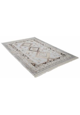 THEKO Wollteppich »Kena 424«, rechteckig, 5 mm Höhe, reine Wolle, Kurzflor, mit Fransen, Wohnzimmer kaufen